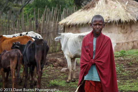 Maasai Posing for Photograph